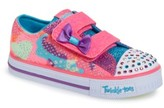 Skechers Toddler Girl's Twinkle Toes Shuffles Light-Up Sneaker