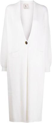 L'Autre Chose Buttoned Long-Line Cardi-Coat