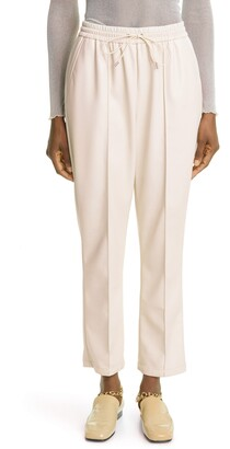 JONATHAN SIMKHAI STANDARD Tay Stretch Faux Leather Crop Pants