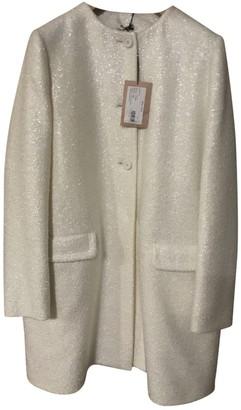 Miu Miu Ecru Wool Coat for Women