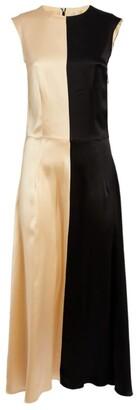 Deitas Two-Tone Silk Dress