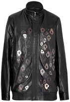 Anthony Vaccarello Embellished Leather Jacket