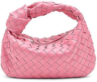 Bottega Veneta Intrecciato Shoulder Bag in Pink & Silver | FWRD