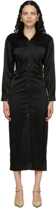 Nanushka Black Satin Kinsley Dress