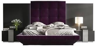 Orren Ellis Tufted Solid Wood and Upholstered Standard Bed Size: Queen