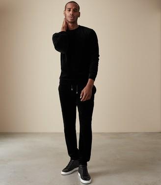 Reiss Bennet - Velour Joggers in Black