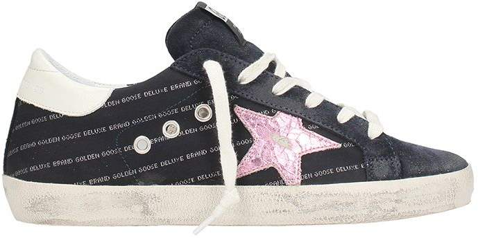 Golden Goose Superstar Blue Lilliac Leather Sneakers