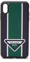 Prada - Logo Stripe Iphone Xs Max Rubber Phone Case - Mens - Green