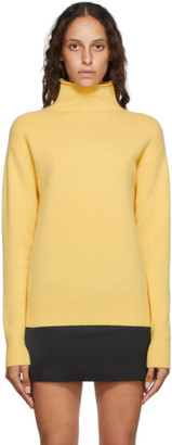 Georgia Alice Yellow Pure Cashmere Turtleneck