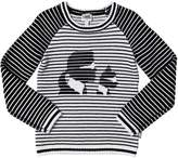 Karl Lagerfeld Tricot Cotton & Wool Blend Sweater