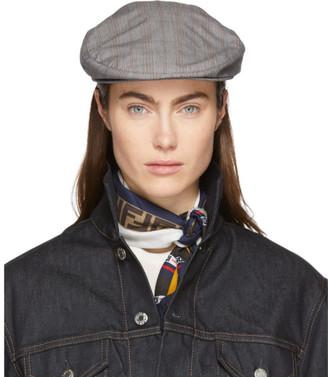 Isabel Marant Grey Check Gabor Cap