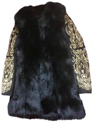 Philipp Plein Black Fox Coat for Women