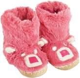 Hatley Little Girls' Pink Bear Kids Slouch Slipper