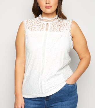 New Look Curves Crochet Lace Top