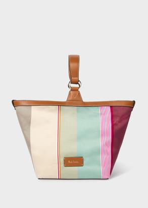 Paul Smith Women's 'Stripe Jacquard' Small Wristlet Tote Bag
