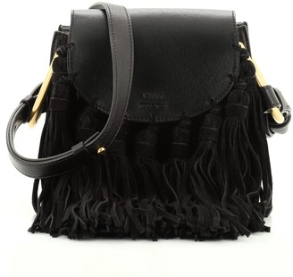 Chloé Fringe Tassel Hudson Bag Leather Mini