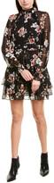 Nicholas High-Neck Silk Mini Dress