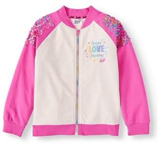Nickelodeon JoJo Siwa Sequin French Terry Bomber Jacket (Little Girls & Big Girls)