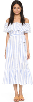 Lisa Marie Fernandez Mira Button Down Stripe Dress