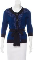 Robert Rodriguez Lace-Accented Cashmere Cardigan