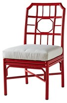 The Well Appointed House Indoor/Outdoor Aluminum Side Chair with Cushion in Antique Red