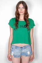 Rebel Yell Bandit Classics Crop Top in Grass