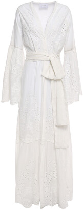 We Are Leone Broderie Anglaise Cotton Robe