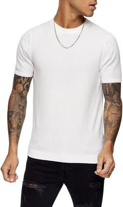 Topman Sweater Knit T-Shirt