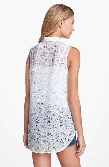 Research & Design Lace Back Sleeveless Blouse