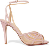 Charlotte Olympia Octavia cutout suede sandals