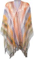 Missoni embroidered cape - women - Nylon/Viscose - One Size