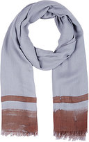 Colombo MEN'S STRIPED CASHMERE-SILK TWILL SCARF
