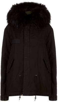Mr & Mrs Italy Fox Fur Hooded Short Parka Jacket
