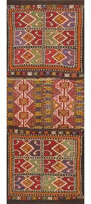 Pasargad Saddlebag Hand Knotted Wool Red/Purple Area Rug Pasargad