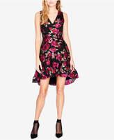 Rachel Roy Printed Jacquard High-Low Dress