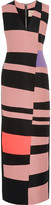 Roksanda Adderley color-block wool-blend gown