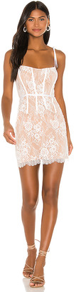 For Love & Lemons Cheyenne Lace Mini Dress