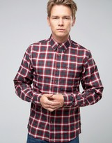 Fjäll Räven Shirt In Check Flannel Slim Fit Red