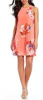 Calvin Klein Petite Floral-Print Trapeze Dress