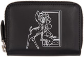 Givenchy Black Mini Bambi Zip Wallet