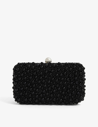 From St Xavier Marcela faux pearl-embellished clutch