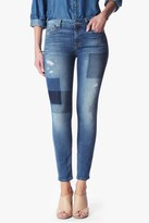 7 For All Mankind Ankle Skinny In Light Patched Denim