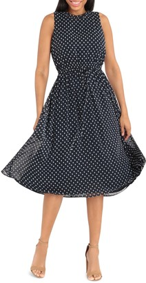 Maggy London Tie Waist Dress