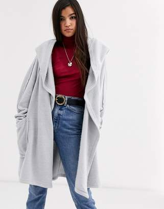 Free People Willow hooded longline cardigan-Grey