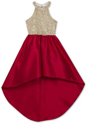 Rare Editions Big Girls Embellished High-Low Dress