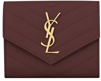 Saint Laurent Monogram Tri-Fold Wallet