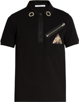 Givenchy Zip-detail short-sleeved cotton-piqué polo shirt