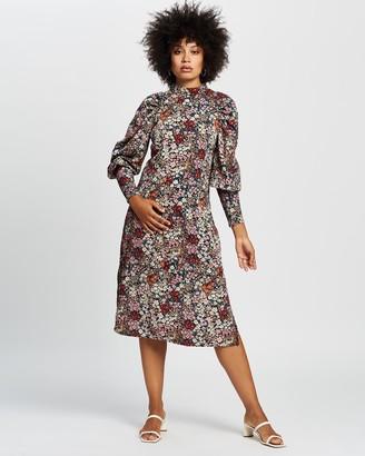 Vero Moda Women's Long Sleeve Dresses - Selma Long Sleeve Calf Dress - Size One Size, S at The Iconic