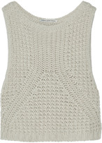 Autumn Cashmere Cropped open-knit cotton sweater