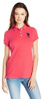 U.S. Polo Assn. Juniors' Stretch Pique Dot-Print Polo Shirt